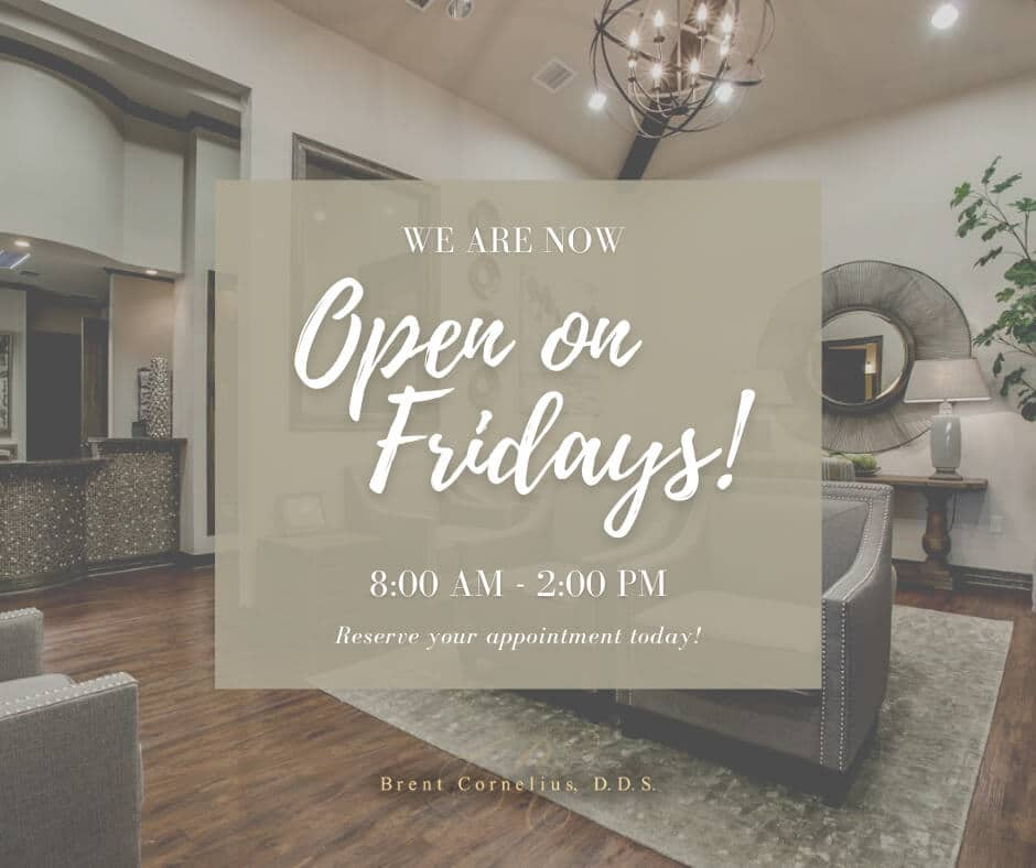 We Are Now Open On Fridays